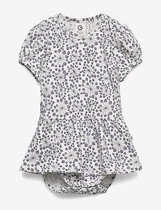 Juncus s/s skirt body - CREAM