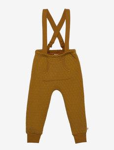 Quilt suspender pants baby - winterbroeken - pesto