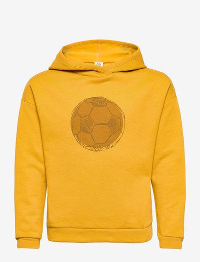 Ball sweat hoodie - hættetrøjer - mustard