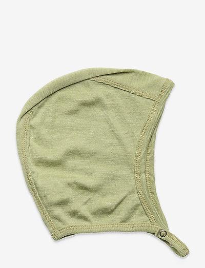 Woolly silk hat baby - hatte og handsker - moss
