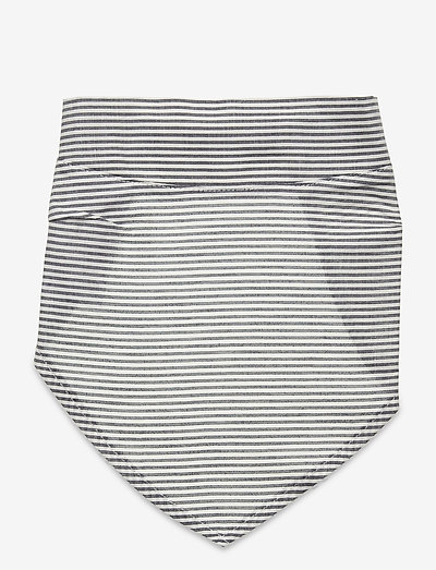 Woven stripe headscarf - slabbertjes - white/blue stripe