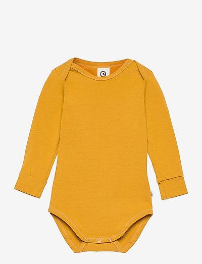 Cozy me l/sl body - langärmelig - mustard