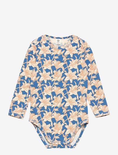 Lily body - langærmede - brilliant blue