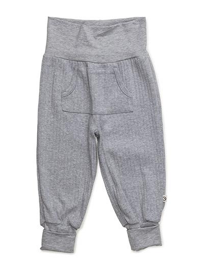 Cozy pocket pants - PALE GREYMARL