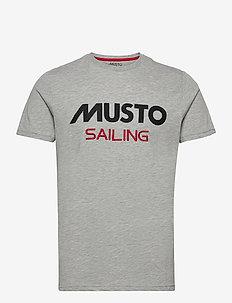 MUSTO TEE - sports tops - 949 grey melange
