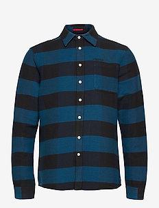 MARINA FLANNEL SHIRT - chemises décontractées - deep sea check
