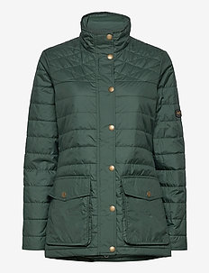 W EDINBURGH PL QUILTED JKT - sports jackets - 488 scarab green