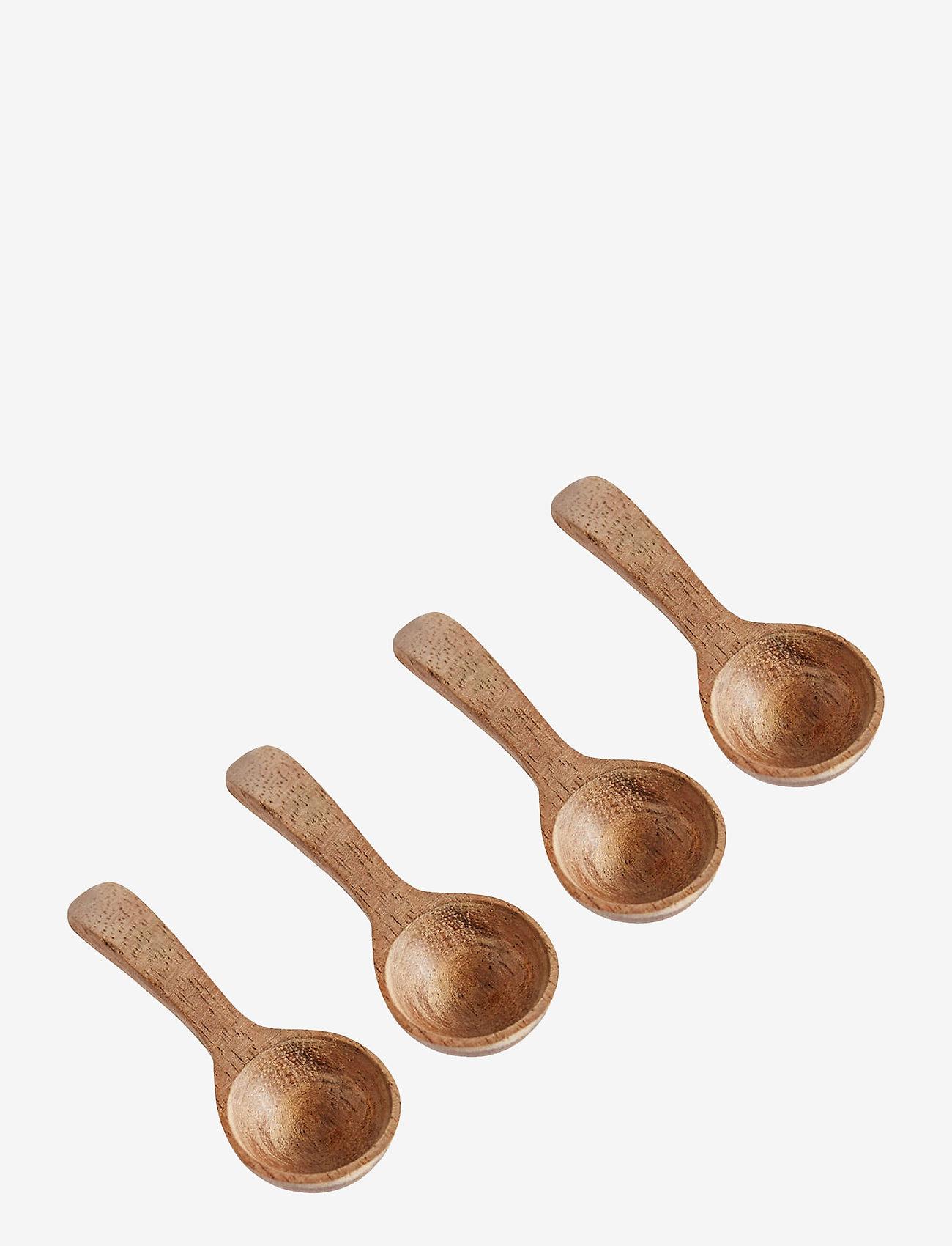 Muubs - Spoon 4 pcs. Salt - teskjeer & kaffeskjeer - natur - 0