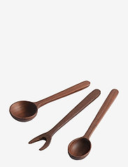 Muubs - Tapas set 3-pcs. Yami - salatbestikk - brown - 2