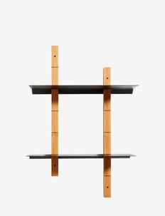 Shelf system Oaks S - hyller & oppbevaring - black/natural oil