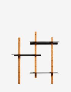 Shelf system Oaks M - hyller & oppbevaring - black/natural oil