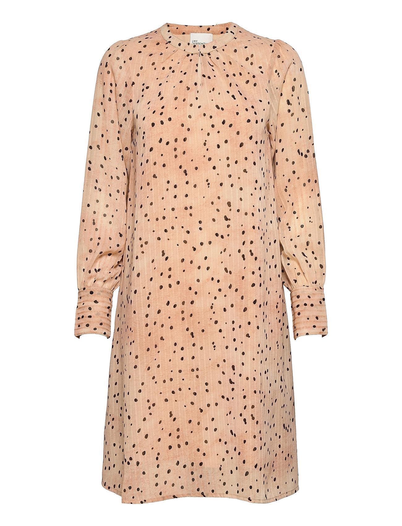 Mwprimo Dot Dress Dresses Everyday Dresses Creme My Essential Wardrobe
