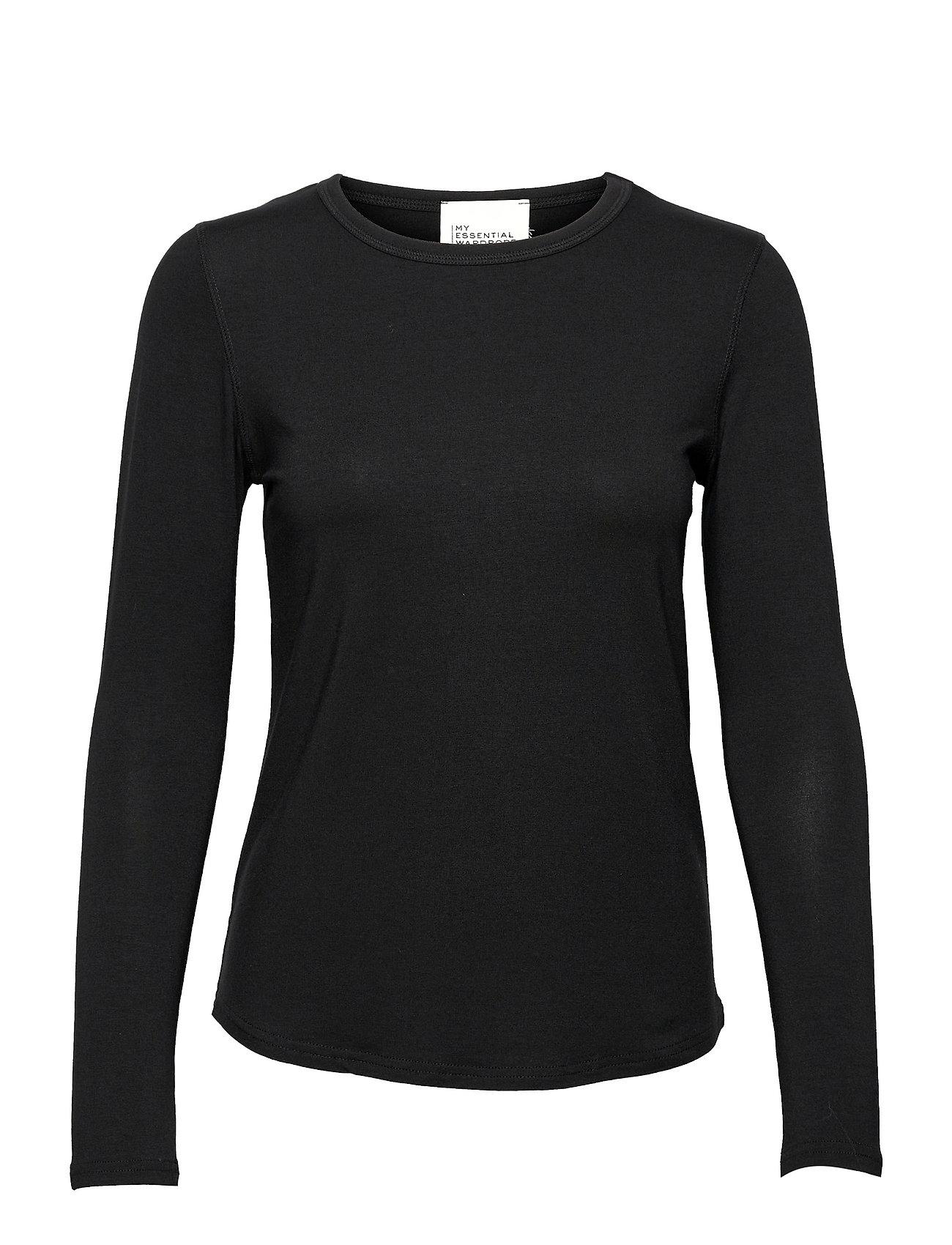 18 The Modal Blouse Langærmet T-shirt Sort My Essential Wardrobe