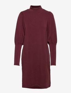 MW Elle Puff Dress - summer dresses - tawny port