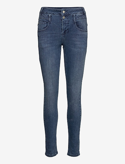 38 THE FIOLA 100 SLIM V - skinny jeans - medium blue vintage wash
