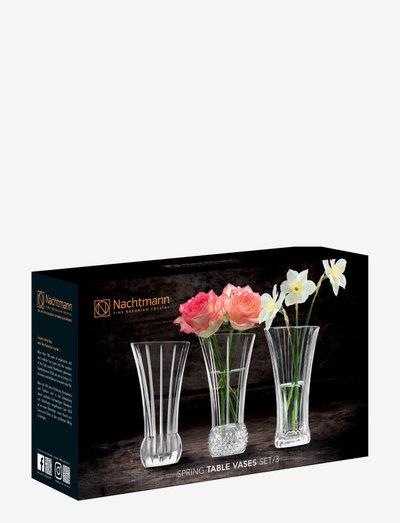Spring Vas 3Del - vaser - clear glass