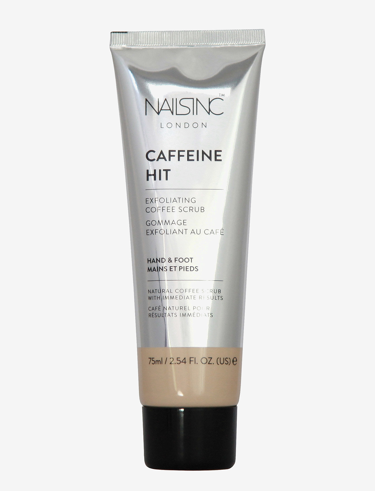 Nails Inc - The Caffeine Hit - Hand & Foot Scrub - kuorinta - clear - 0
