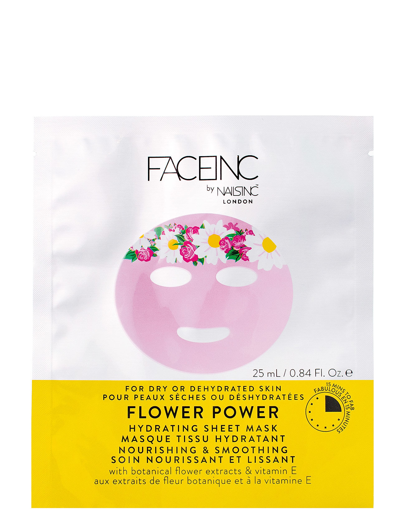 Nails Inc Flower Power Sheet Mask - Hydrating - CLEAR