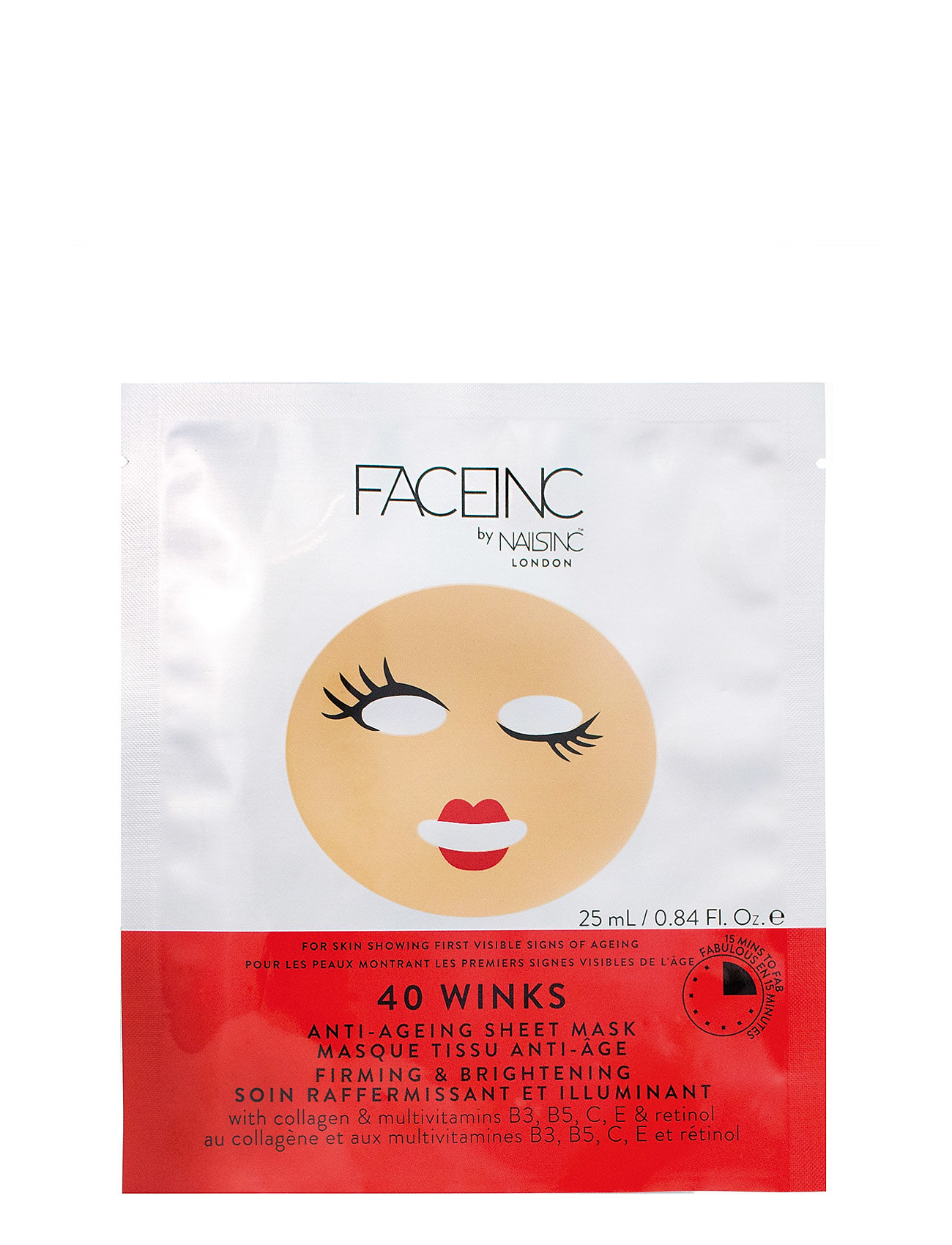 Nails Inc 40 Winks Sheet Mask - Anti-Aging - CLEAR