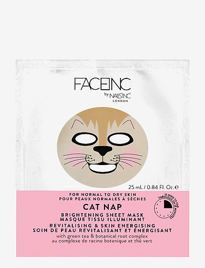 Cat Nap Sheet Mask - Brightening - sheet mask - clear