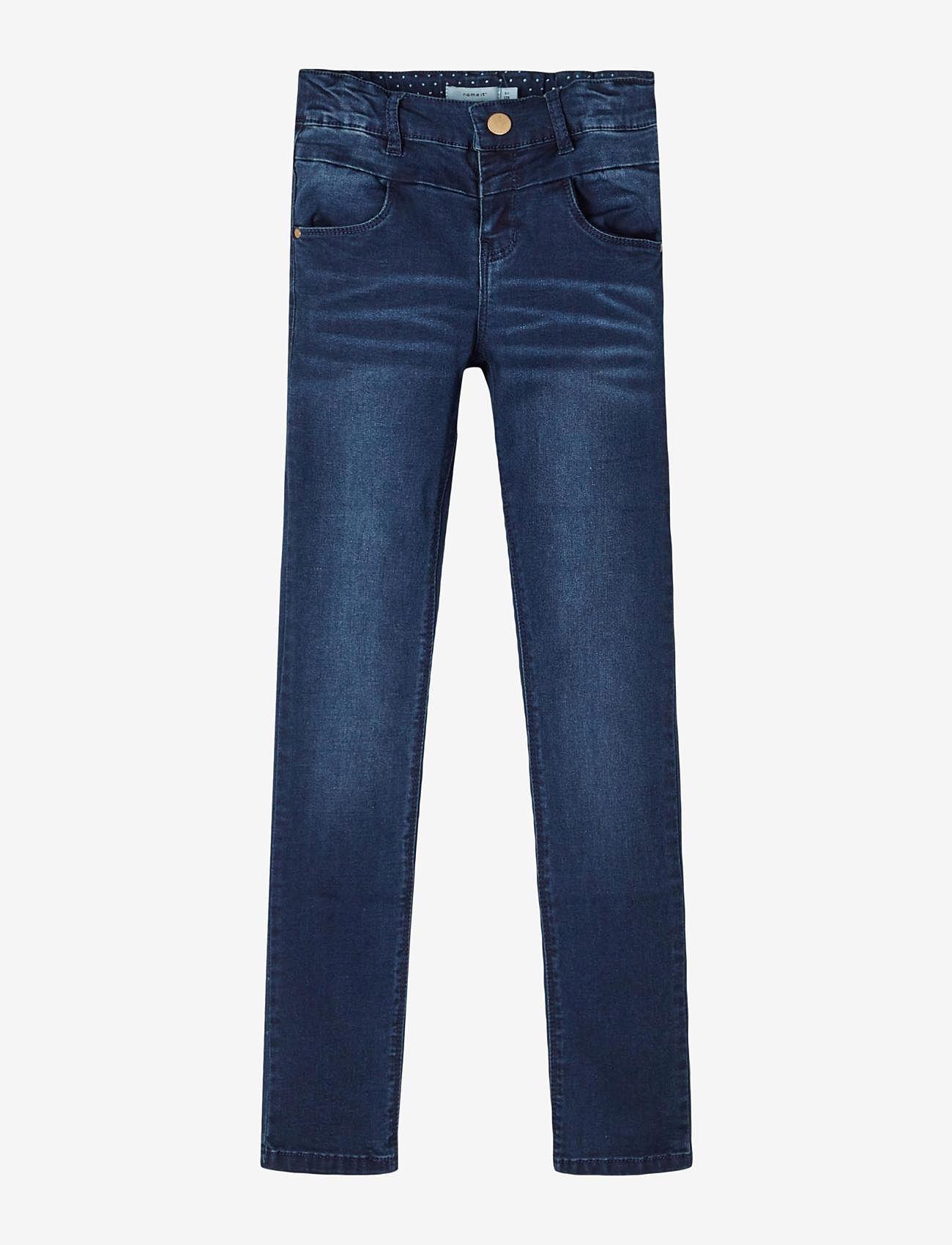 name it - NKFPOLLY DNMTRILLAS 3001 PANT NOOS - jeans - dark blue denim - 0