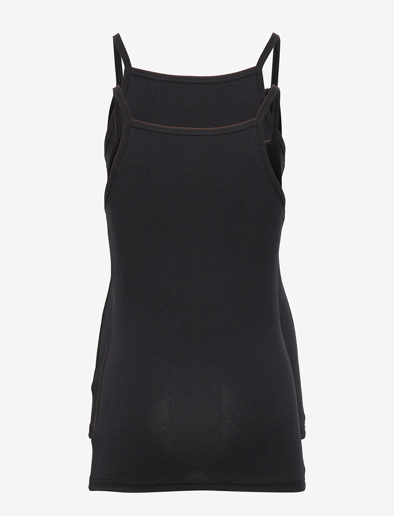 name it - NKFSTRAP TOP 2P SOLID BLACK NOOS - tops - black - 1