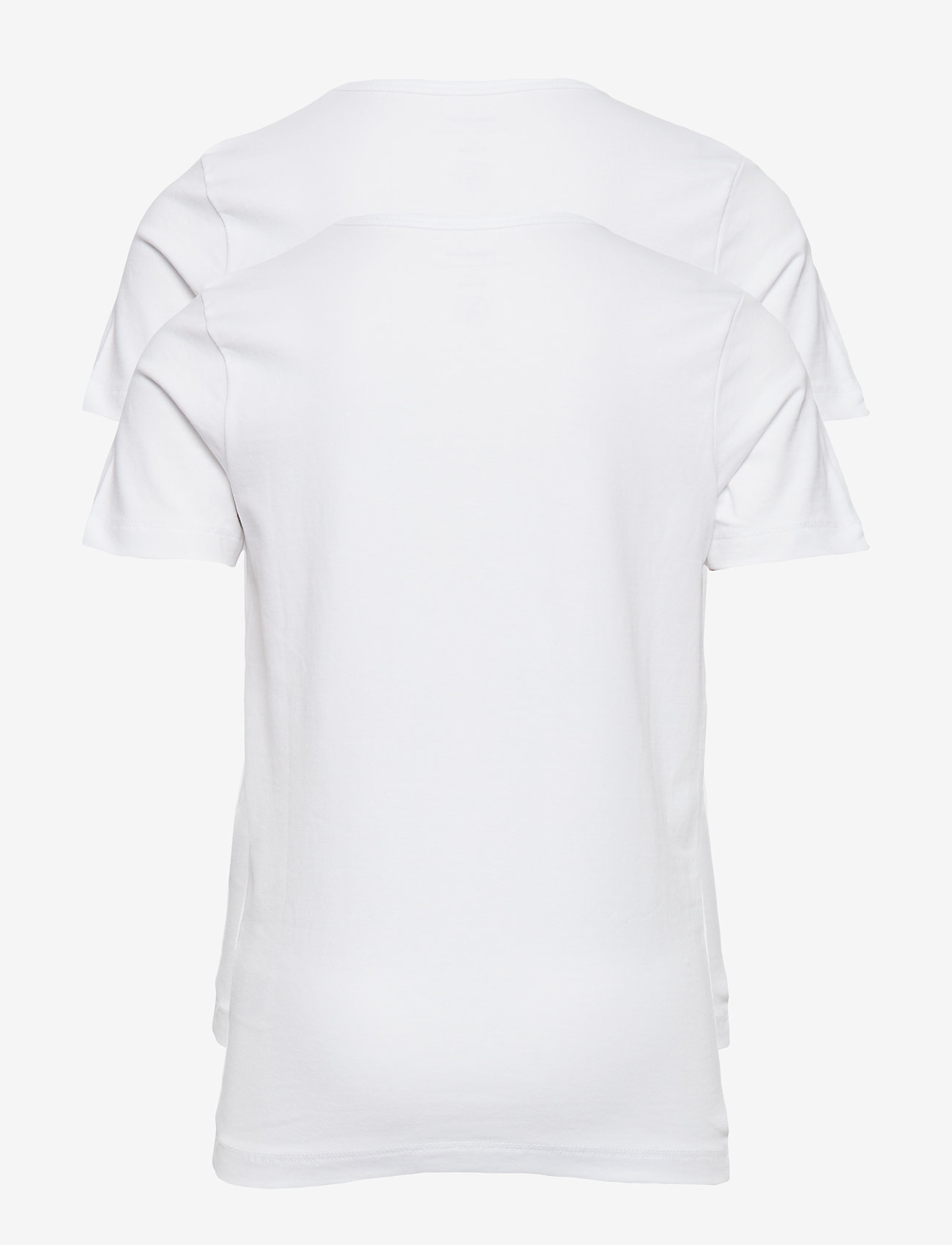 name it - NKMT-SHIRT SLIM 2P SOLID WHITE NOOS - kortærmede - bright white - 1