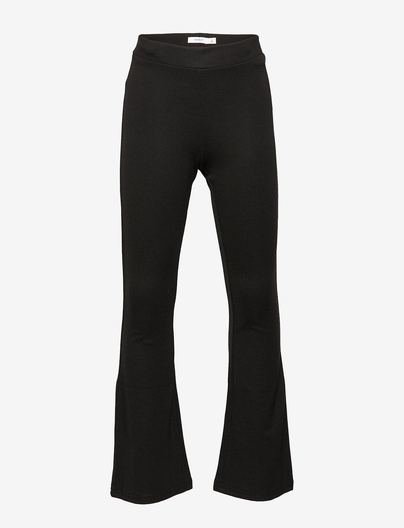 name it - NKFFRIKKALI BOOTCUT PANT NOOS - spodnie - black