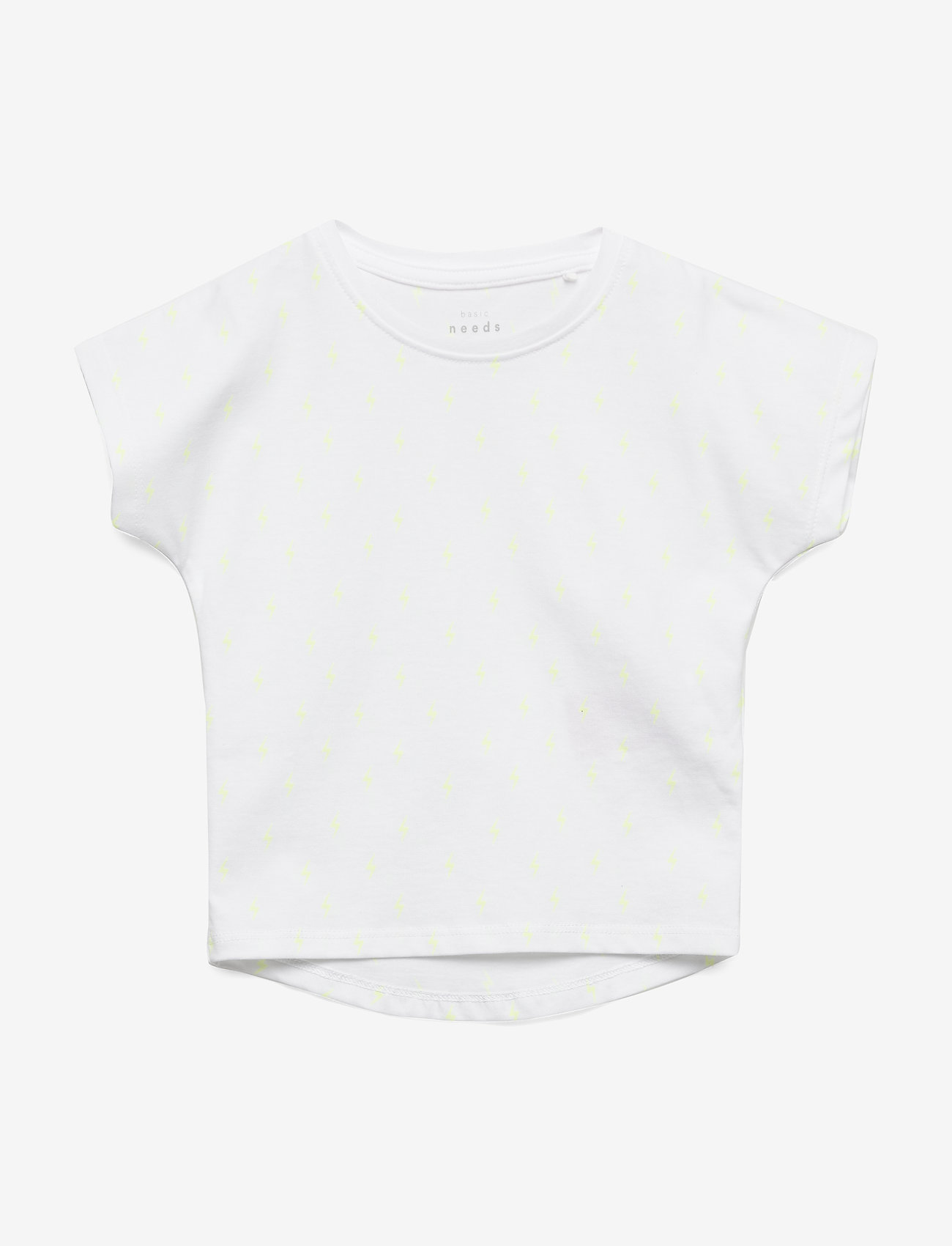 name it - NMFVARNA SS TOP J - kortærmede - bright white - 0