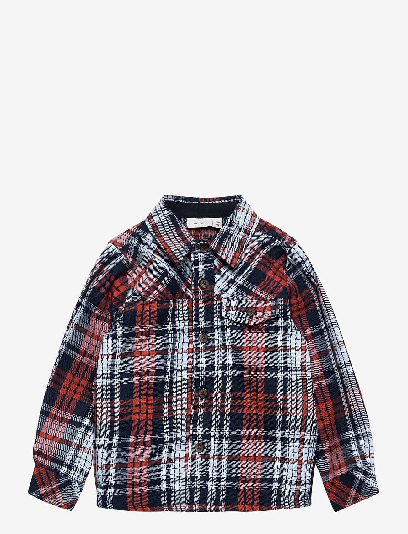name it - NMMODDER LS SHIRT - overhemden - burnt brick - 0