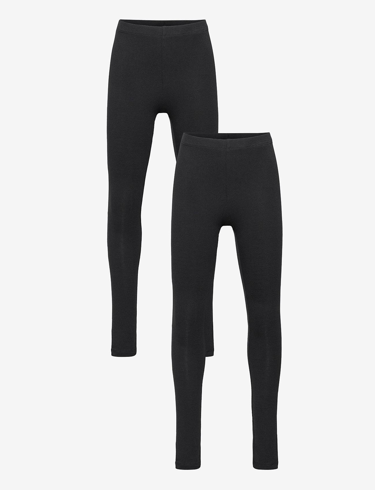 name it - NKFVIVIAN 2P LEGGING NOOS - leggings - black - 0