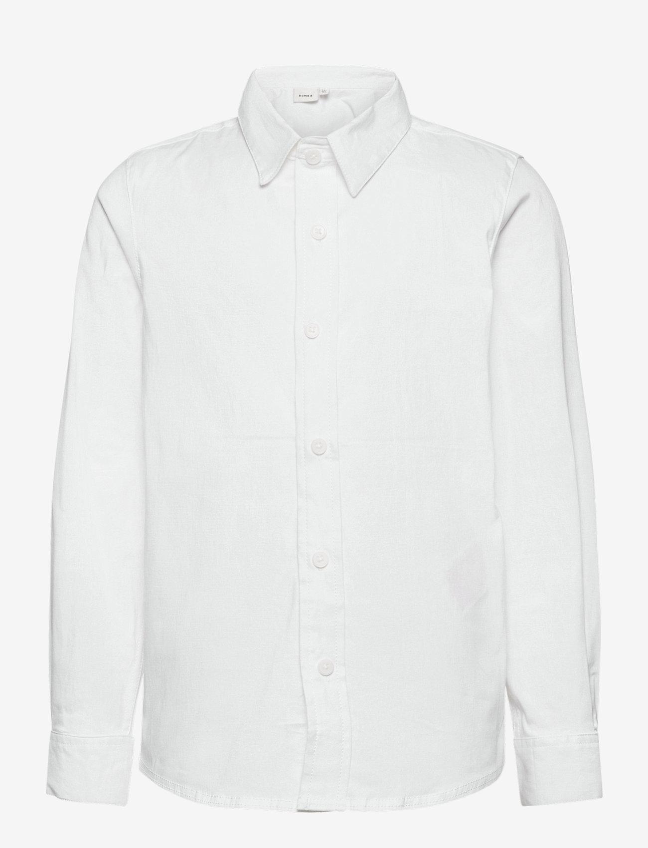 name it - NKMFRED LS SLIM SHIRT NOOS - shirts - bright white - 0