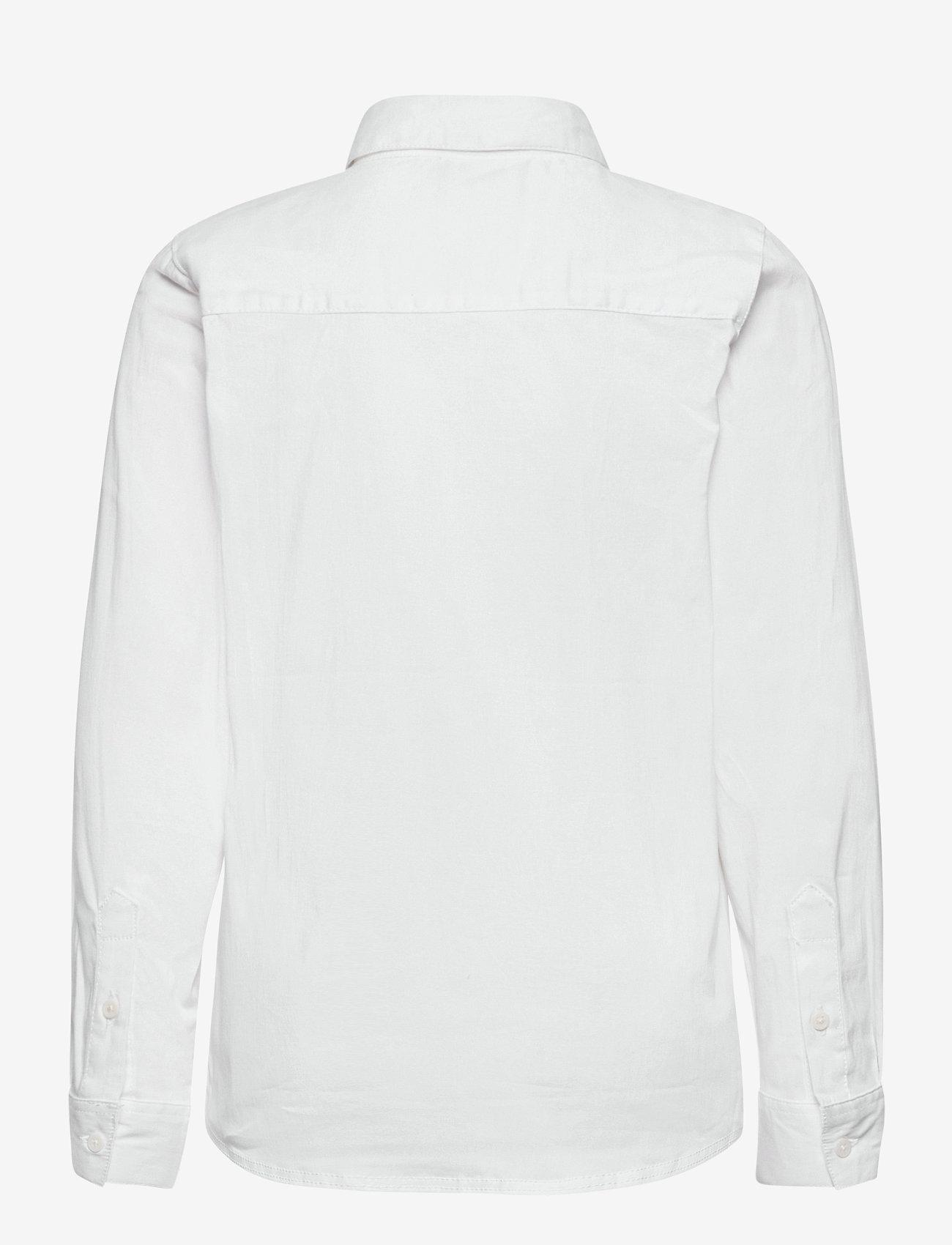 name it - NKMFRED LS SLIM SHIRT NOOS - shirts - bright white - 1
