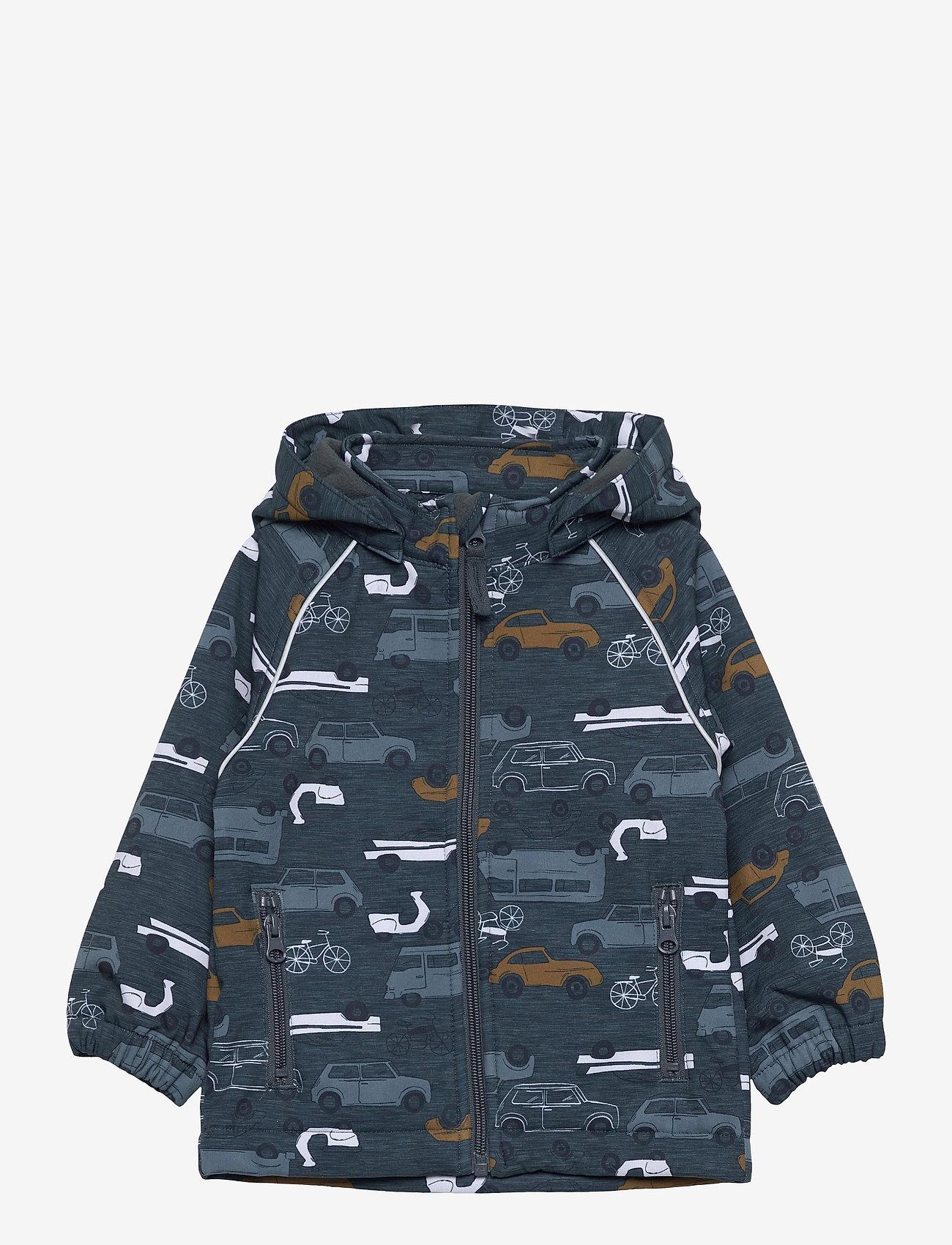 name it - NMMALFA JACKET VINTAGE TRAFIC FO - hoodies - midnight navy - 0