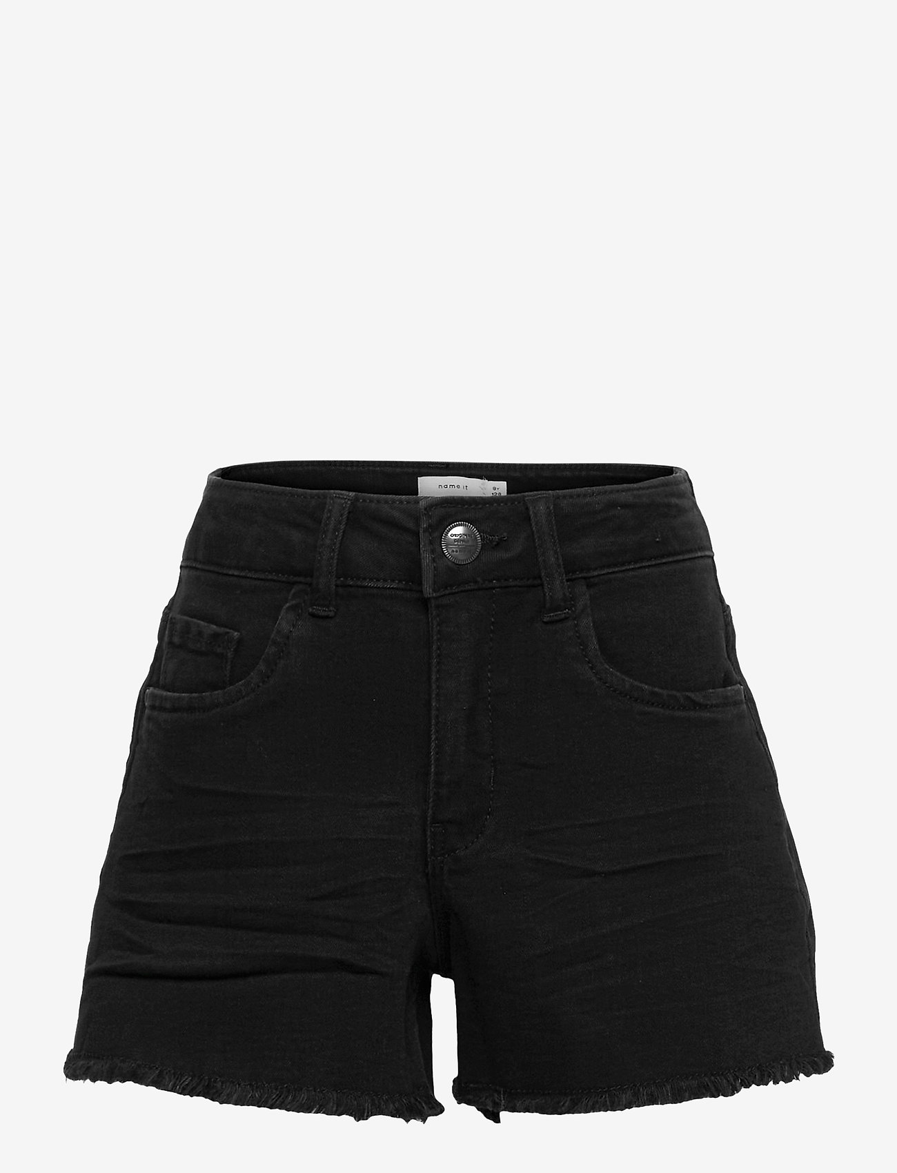 name it - NKFRANDI DNMTECES 7449 HW MOM SHORT - shorts - black denim - 0
