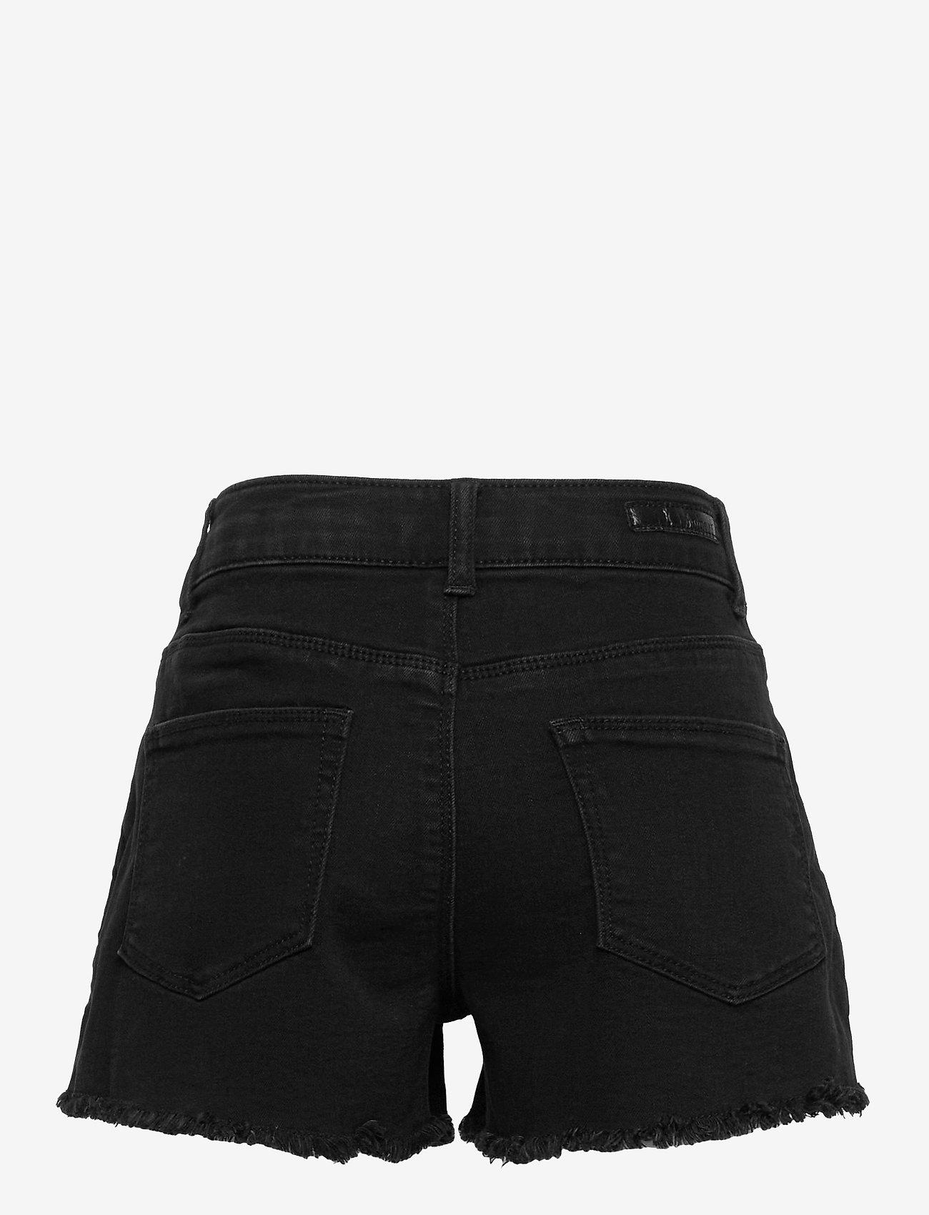 name it - NKFRANDI DNMTECES 7449 HW MOM SHORT - shorts - black denim - 1