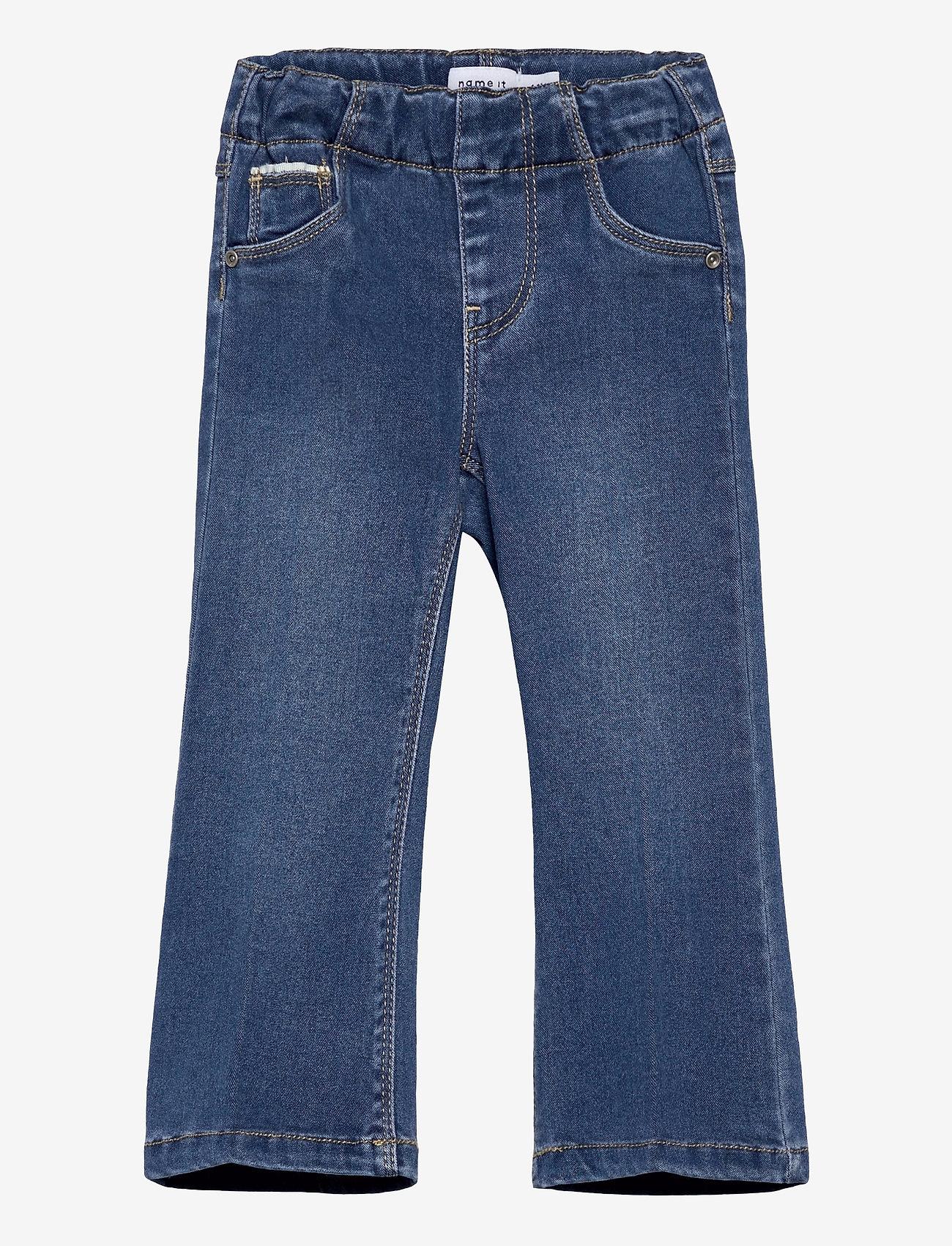 name it - NMFPOLLY DNMATORAS 2467 BOOT LEGGING - jeans - medium blue denim - 0