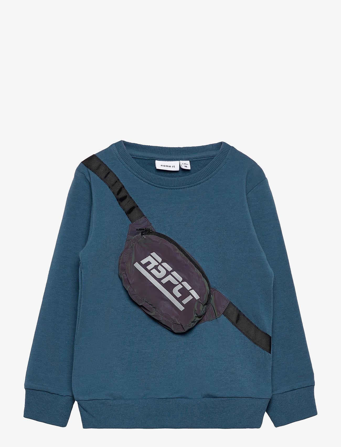 name it - NMMTOMA LS SWEAT BRU - sweatshirts - real teal - 0