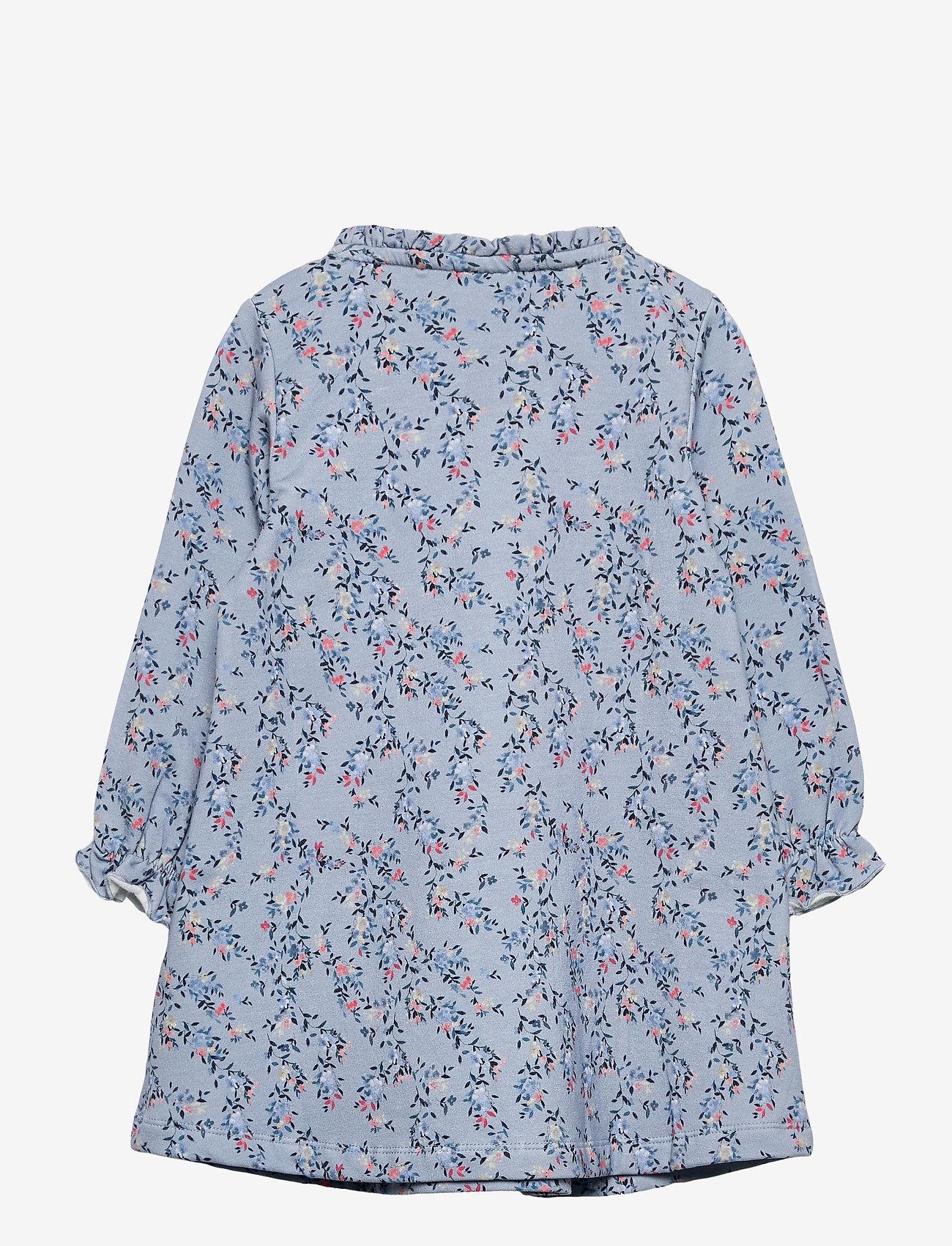 name it - NMFTALIVA SWEAT DRESS BRU - kleider - dusty blue - 1