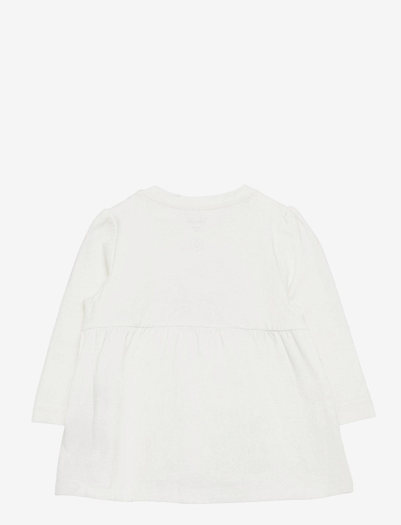 name it - NBFTORA LS TUNIC BOX - blusen & tuniken - snow white - 1
