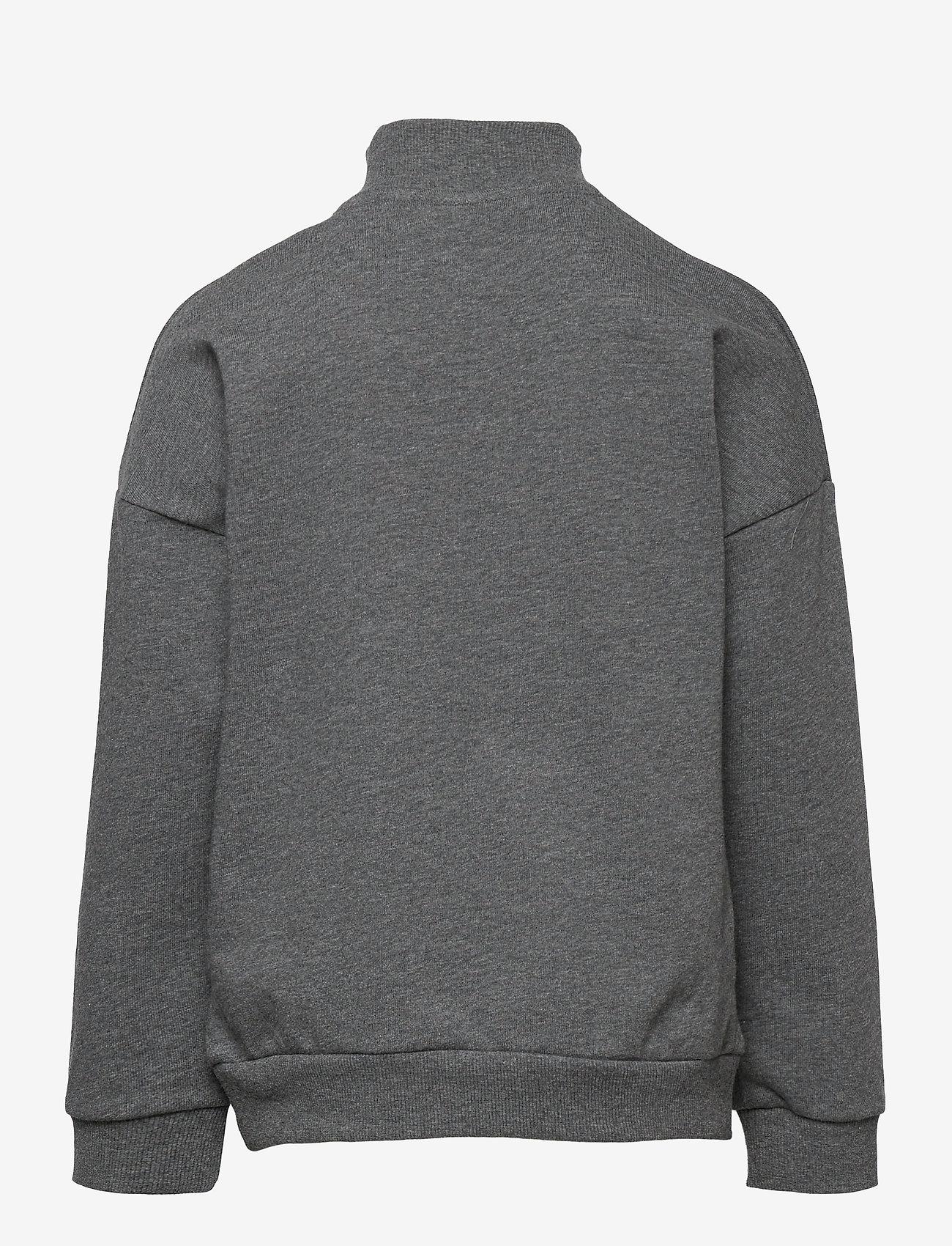name it - NKMBARALD LS SWEAT UNB - sweatshirts - dark grey melange - 1