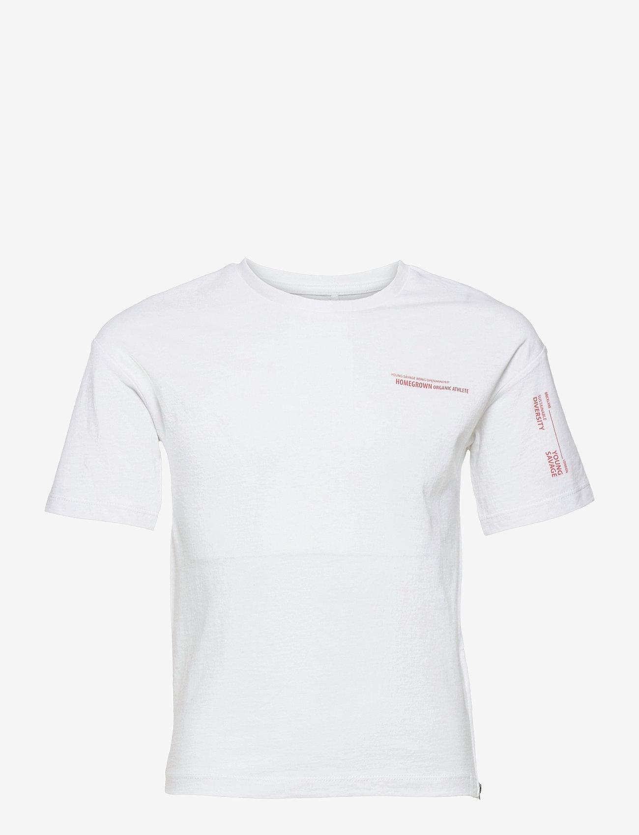 name it - NKMBALDERVI SS TOP - t-shirts - bright white - 0