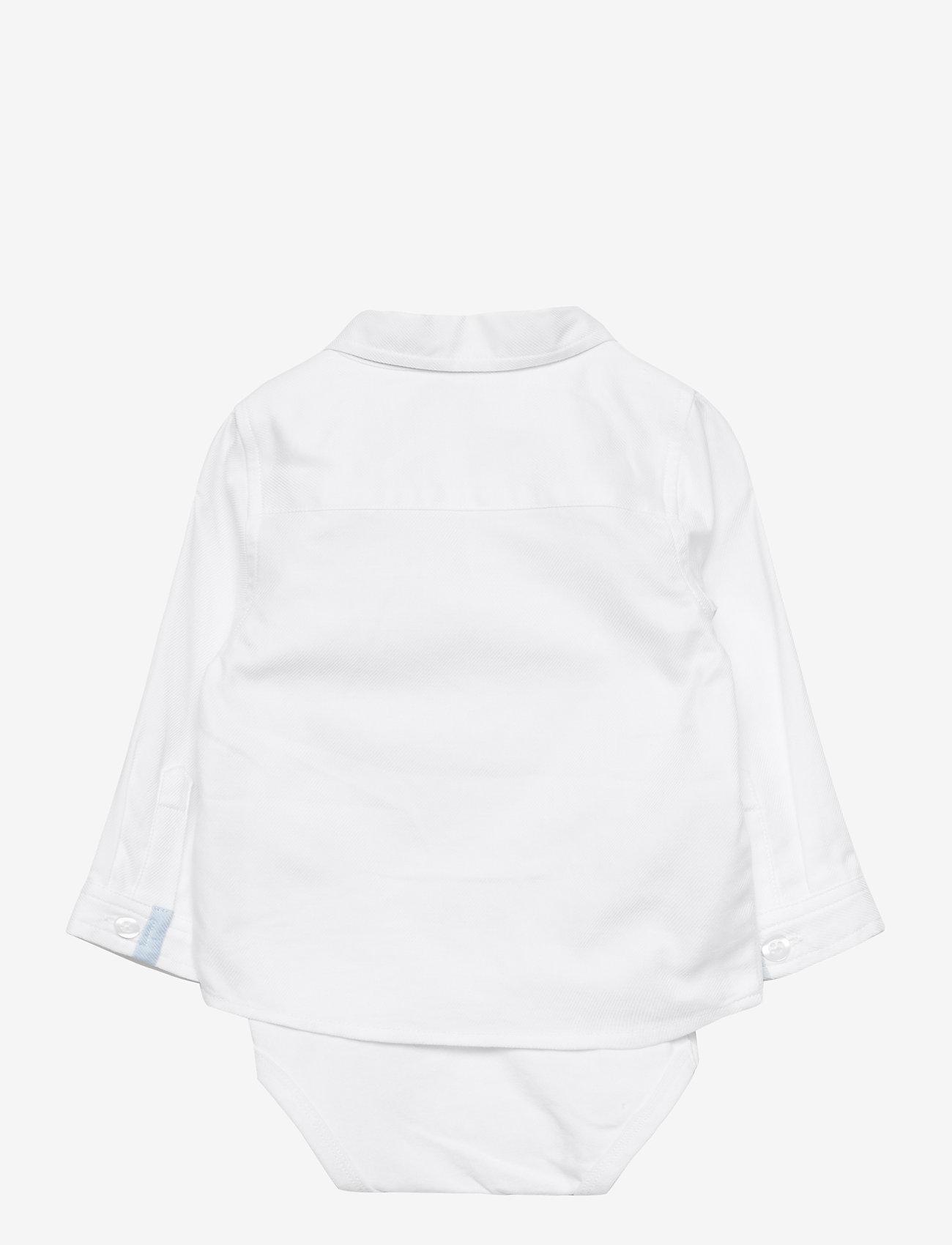 name it - NBMFINWHALE LS SHIRT BODY BOX - langärmelig - bright white - 1