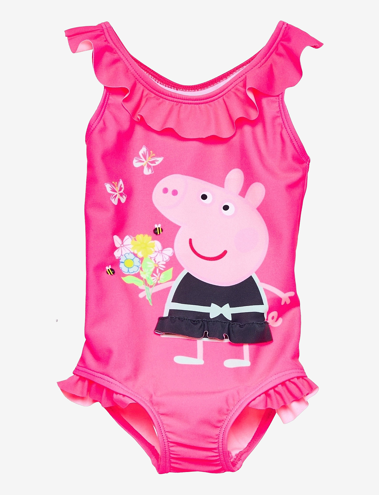 name it - NMFPEPPAPIG MOSSA SWIMSUIT PEP - badeanzüge - knockout pink - 0