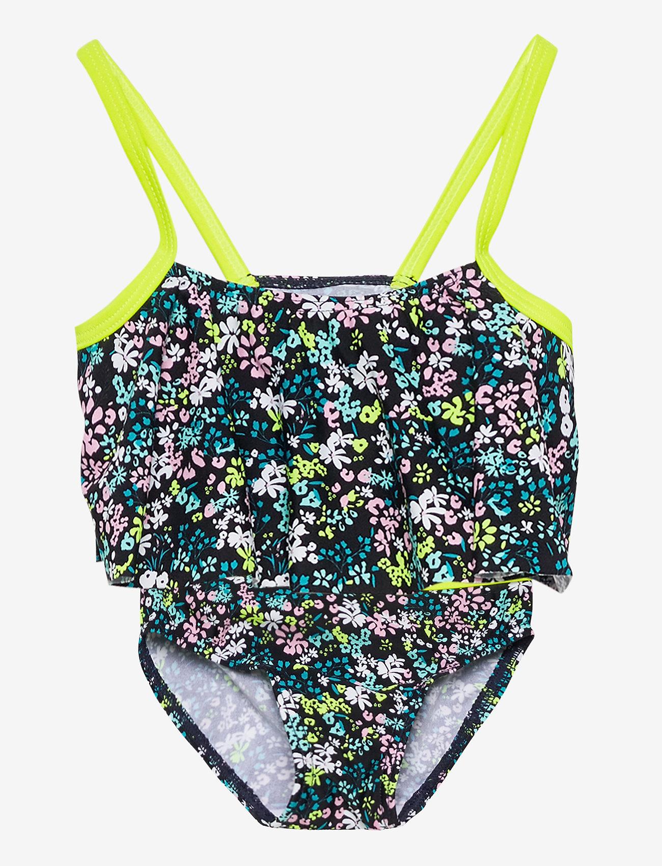 name it - NMFZIFLOWER BIKINI - swimsuits - dark sapphire - 0