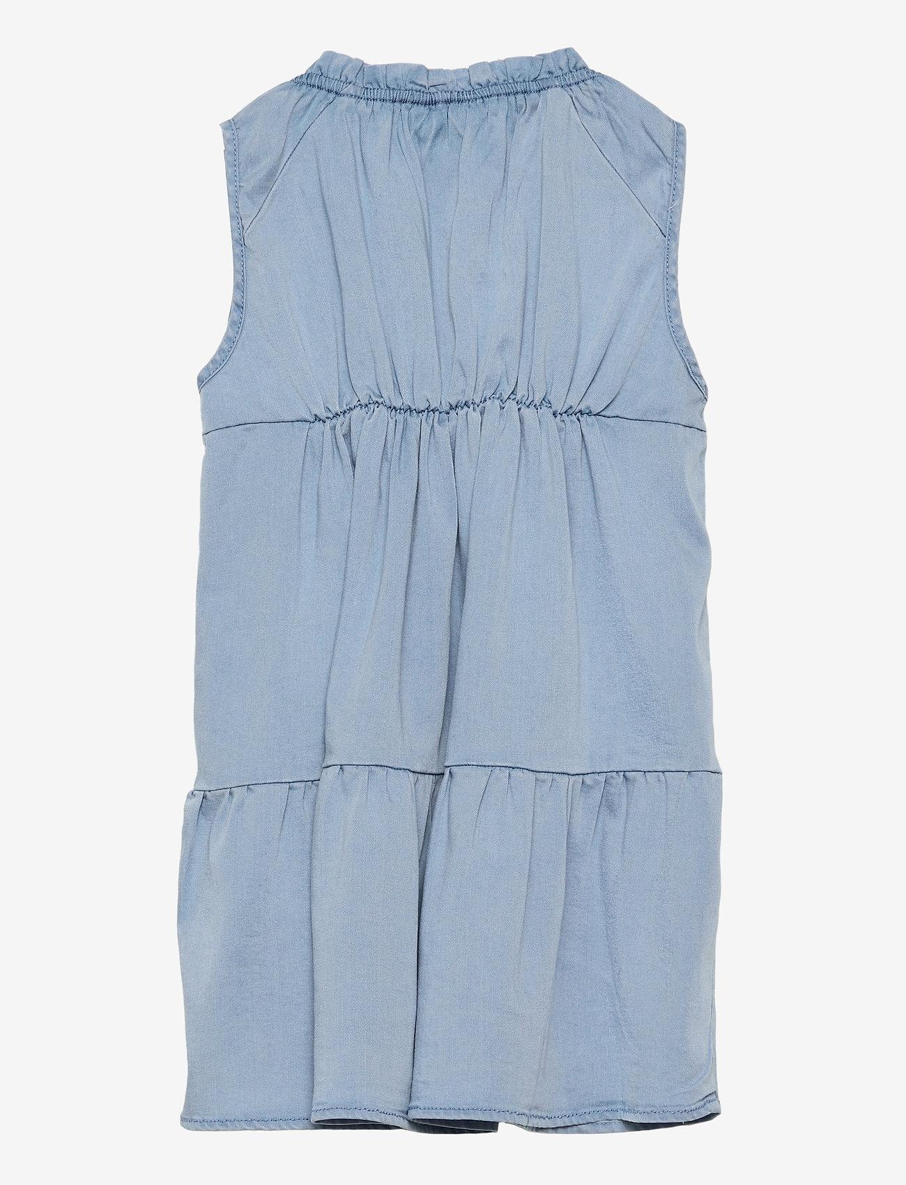 name it - NMFBATAS DNM 1496 S/L DRESS - kleider - light blue denim - 1
