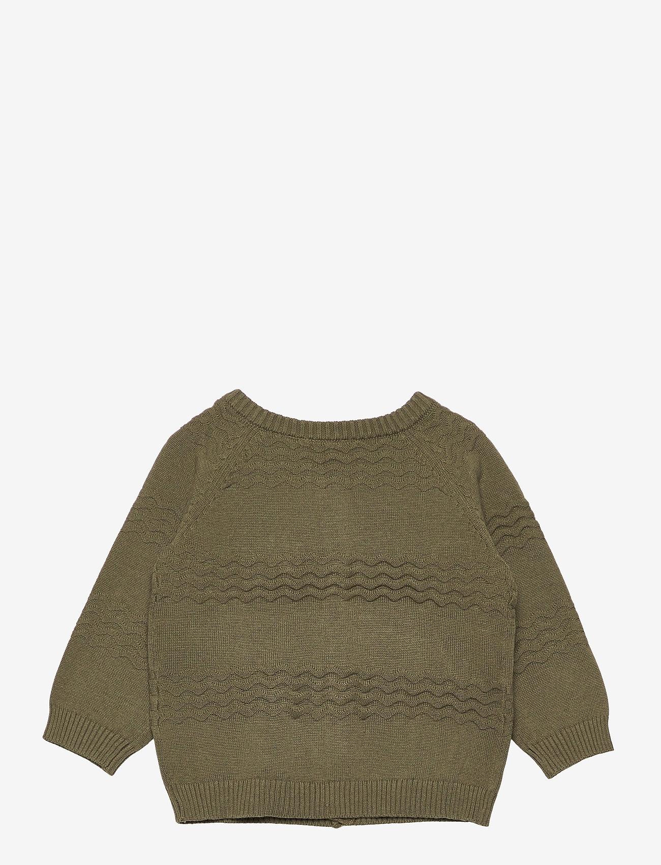 name it - NBMDESET LS KNIT CARD - gilets - ivy green - 1