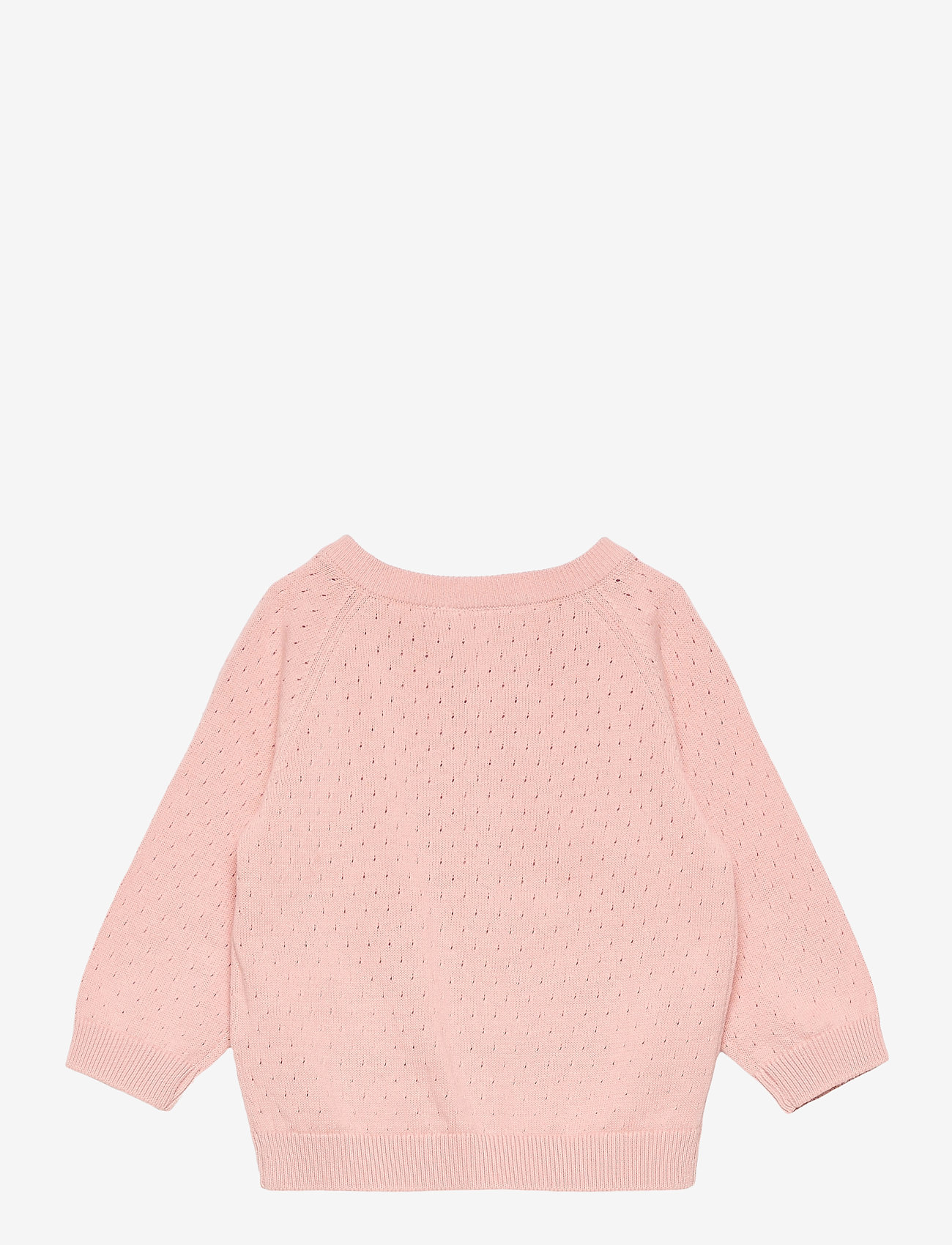 name it - NBFDESMOLLY LS KNIT CARD - gilets - peach whip - 1