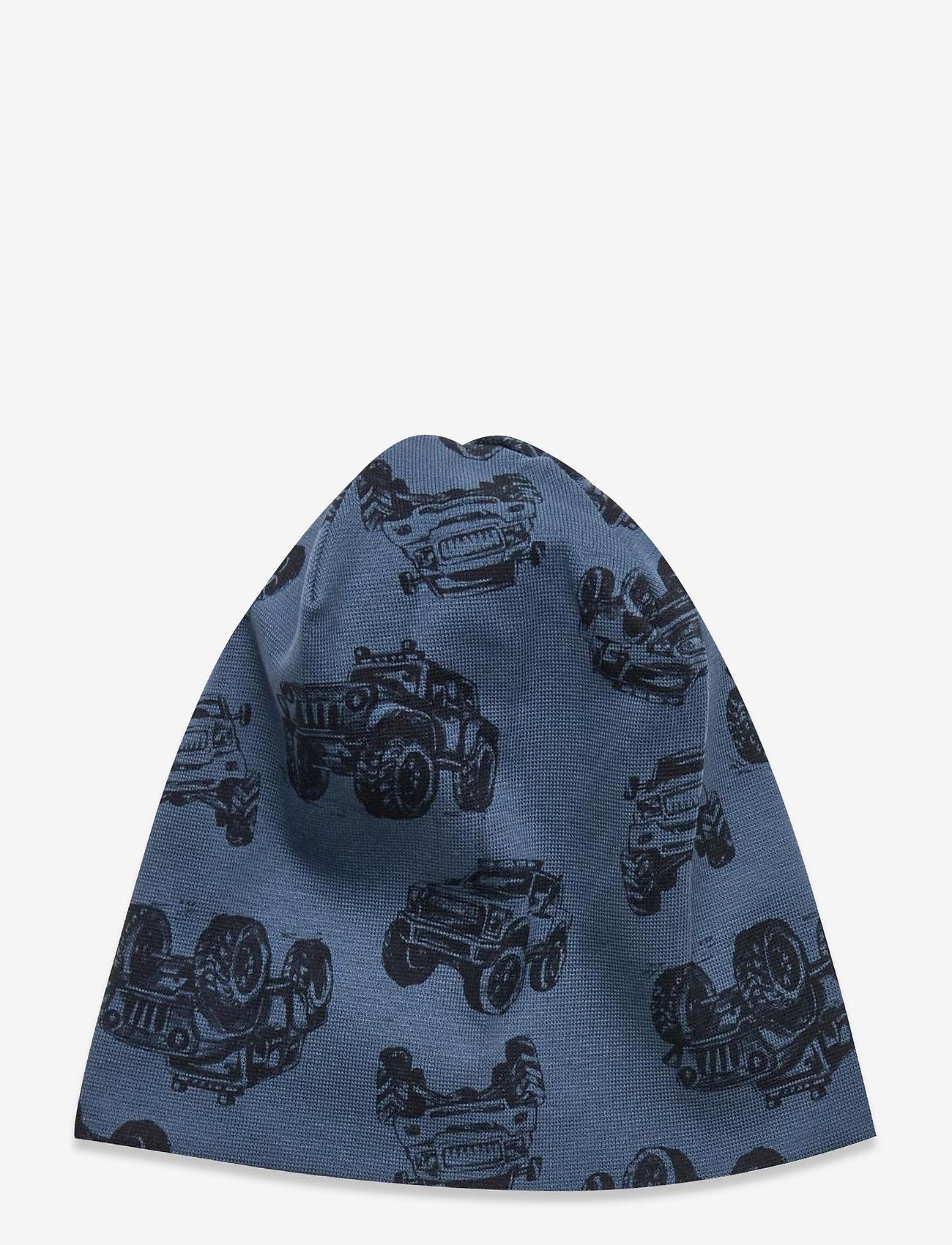 name it - NMMMARLOW AOP HAT - hatte og handsker - captains blue - 0