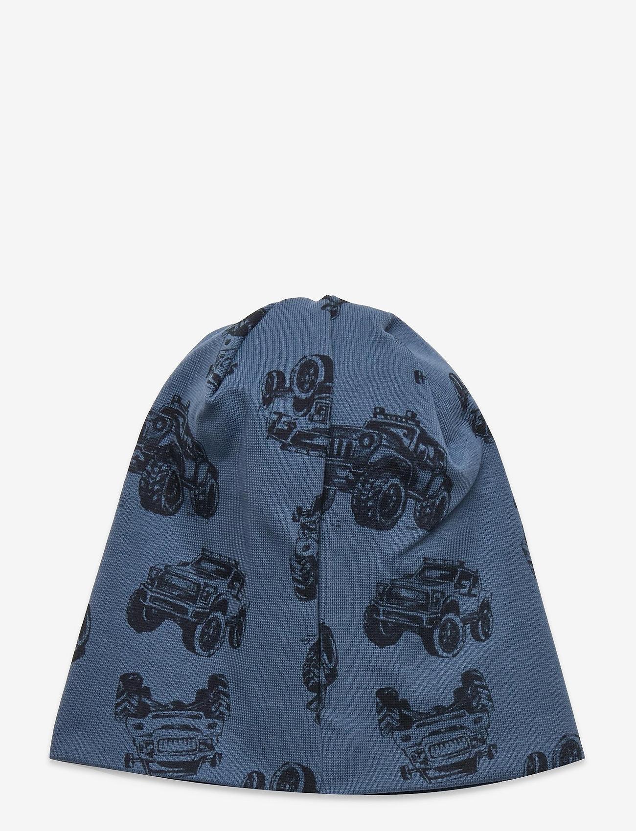 name it - NMMMARLOW AOP HAT - hatte og handsker - captains blue - 1